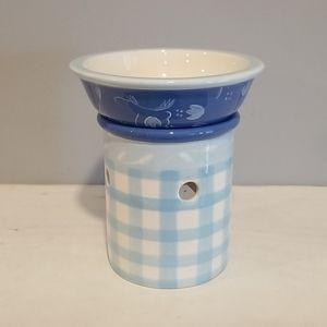 Hallmark Blue & White Wax Tart Candle / Oil Warmer